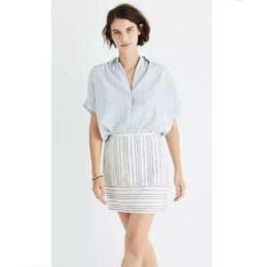 Madewell Gamine Linen Stripe Play Mini Skirt